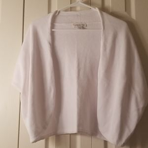 White shrug like sweater
